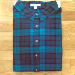 New Woman Within Classic Flannel Shirt 1X 22/24